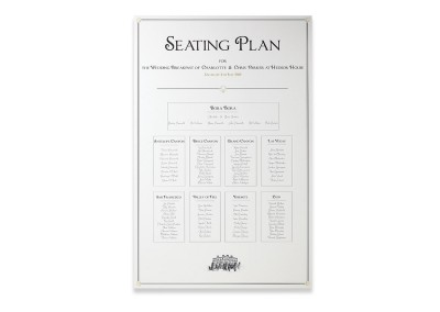 Art Deco Printed Seating Plan