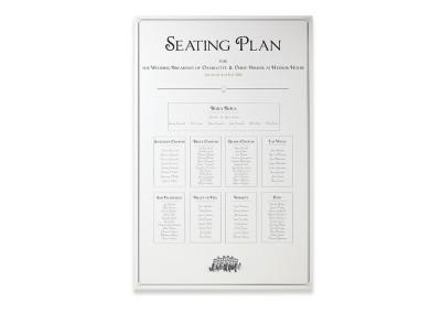 Art Deco Printed Seating Plan