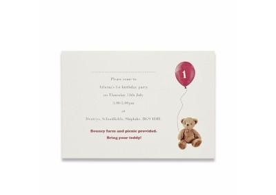 Teddy Birthday Invitation