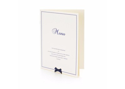 Classic Bow Booklet Menu