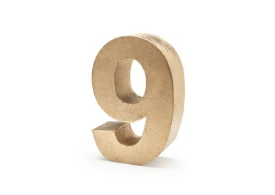 Gold 3D Table Number