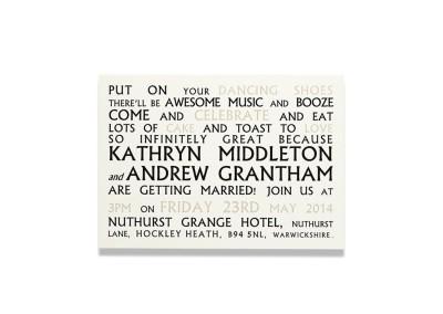 Typographic Invitation