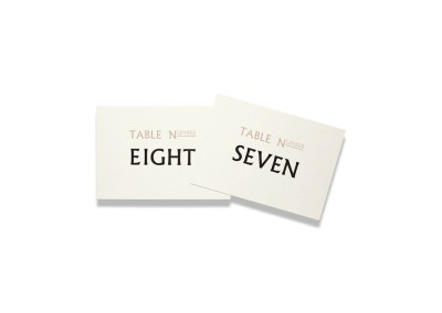 Typographic Table Numbers