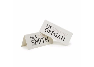 Typographic Tent Place Cards