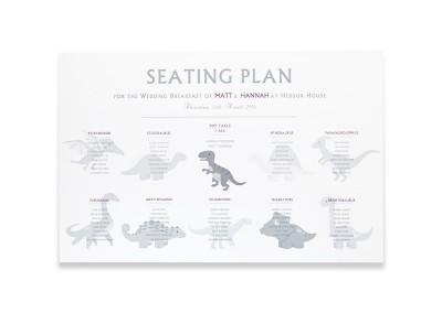 Dinosaur Watermark Seating Plan