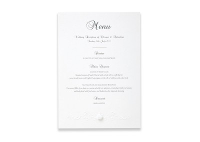 Embossed Rose Garland Menu