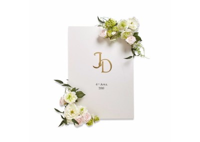Monogram Welcome Poster