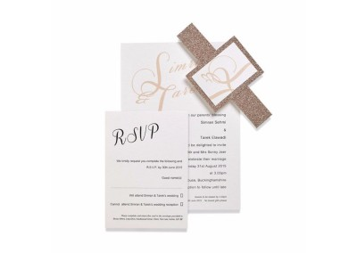 Blush Glitter Invitation Collection