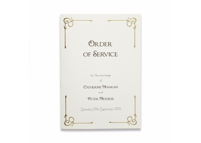 Gold Versailles Order of Service