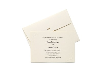 Embossed Ivy Invitation