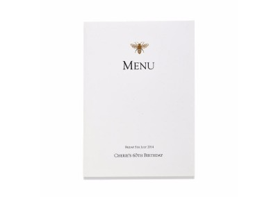 Gold Bee Booklet Menu
