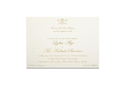 Gold Letterpress Invitation