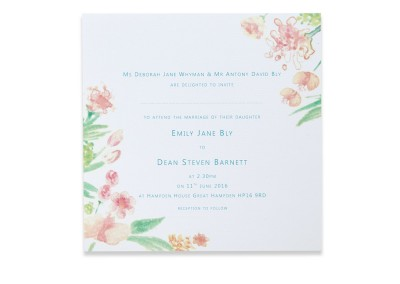 Personalised Watercolour Invitation