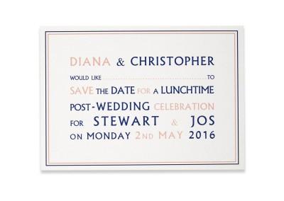Post-Wedding Invitation