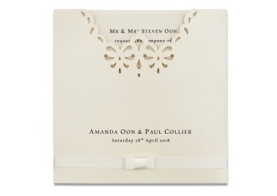 Laser-Cut Pocketfold Invitation
