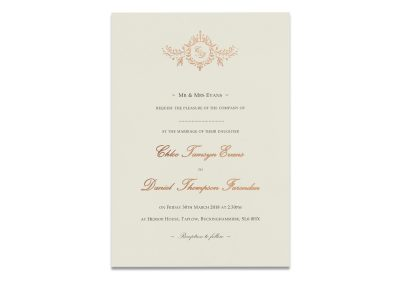 Rose Gold Letterpress Motif