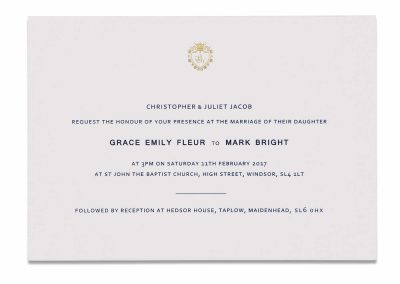 Navy Crest Invitation