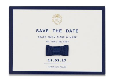 Bow Tie Save The Date