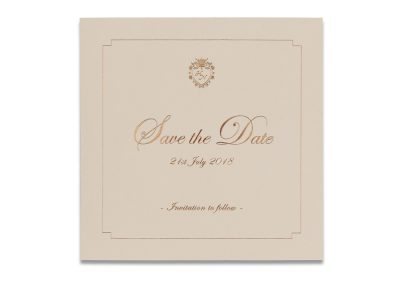 Blush Foil Save The Date