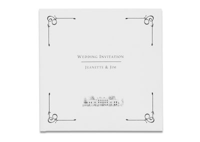 Corner Flourish Pocketfold Invitation