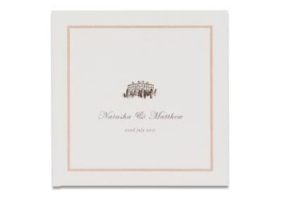 Blush Border Pocketfold Invitation