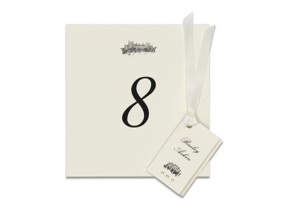 Classic Table Number & Favour Card