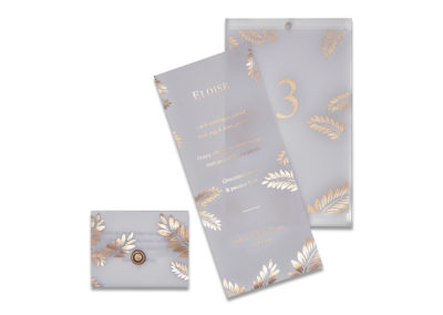 Transparent Foil Leaf Menu