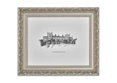 Danesfield Framed Illustration